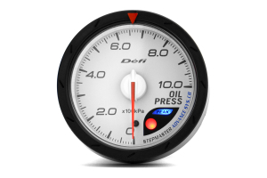 Defi Advance CR Oil Pressure Gauge 60mm White ( Part Number:DEF2 DF08901)
