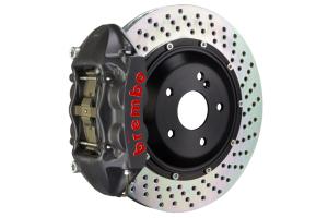 Brembo GT-S System 4 Piston Front Brake Kit Hard Anodized Drilled Rotors - Volkswagen Models (inc. 2015+ GTI)