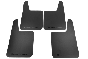 Rally Armor Basic Plus Universal Mud Flaps ( Part Number:RAL MF20-BAS-BLK)