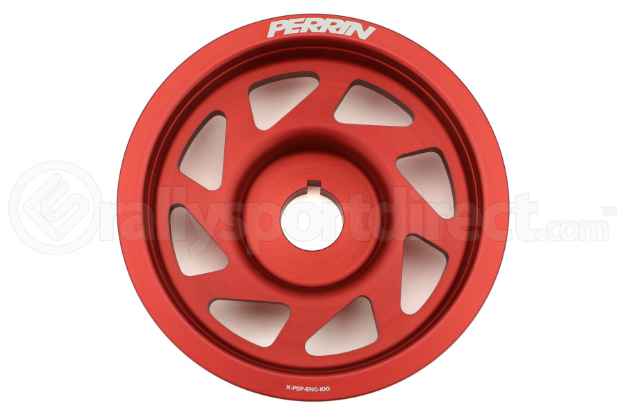 Perrin Lightweight Crank Pulley Red Most ( Part Number:PER1 PSP-ENG-100RD)
