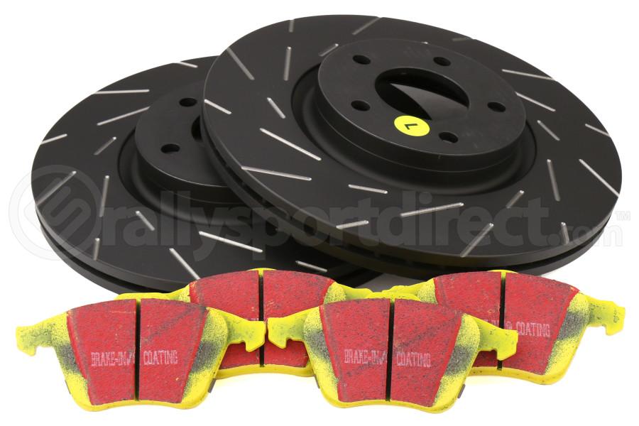 EBC Brakes S9 Front Brake Kit Yellowstuff Pads and USR Rotors - Mazdaspeed 3 2007-2013