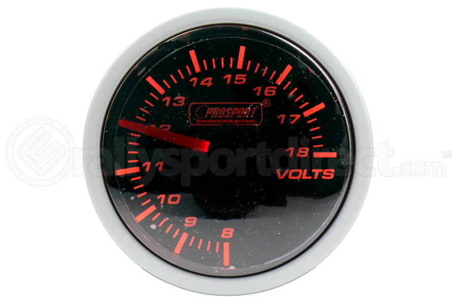 ProSport Volt Gauge 52mm Amber/White (Part Number:216BFWAVOSM)