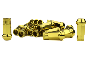 Muteki SR48 Chrome Yellow Open Ended Lug Nuts12X1.25 - Universal