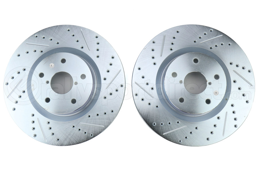 Stoptech C-Tek Sport Drilled and Slotted Front Rotor Pair - Subaru STI 2015-2017