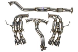 Invidia Gemini R400 Single Layer Cat Back Exhaust w/Stainless Steel Tips - Subaru WRX 2010-2014 / STI 2011-2014