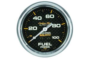Autometer Carbon Fiber Fuel Pressure Gauge Mechanical 2-5/8in - Universal