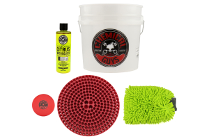 Chemical Guys Best Detailing Bucket Kit (5pc) Red - Universal
