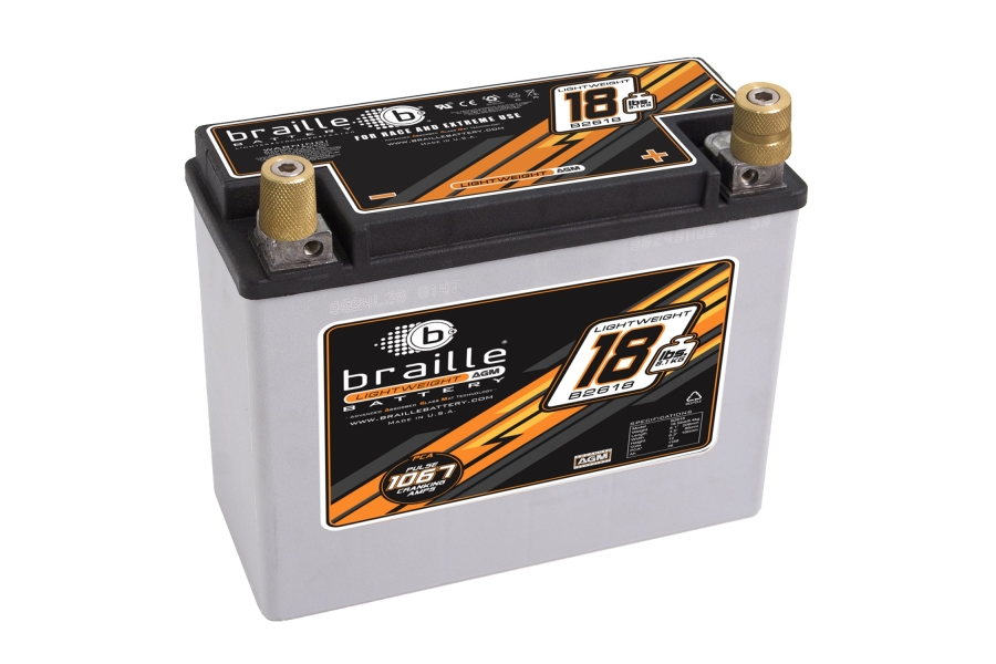 Braille Lightweight Advanced AGM Racing Battery - Universal