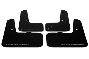 Rally Armor UR Mudflaps Black Urethane Grey Logo ( Part Number: MF24-UR-BLK/GRY)