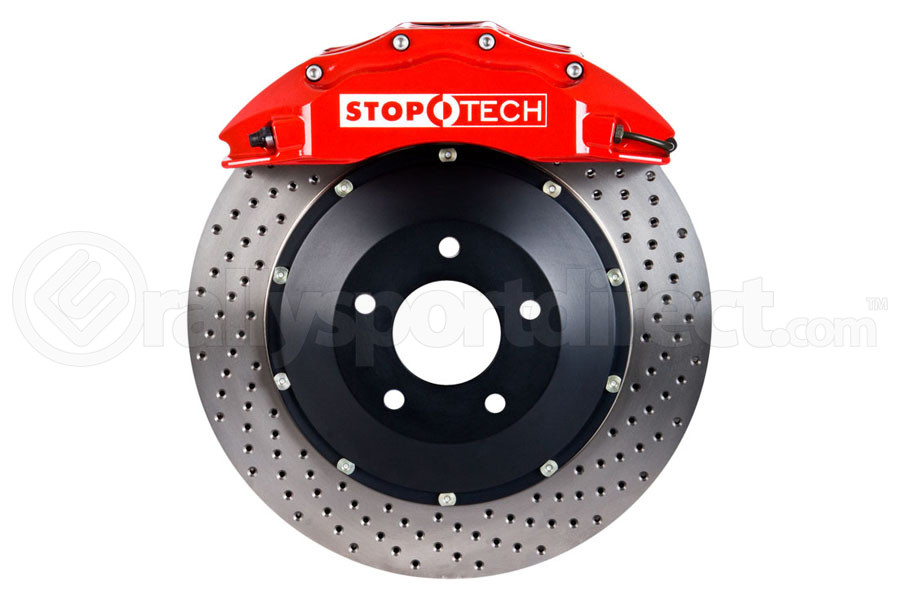 Stoptech ST-60 Big Brake Kit Front 355mm Red Drilled Rotors (Part Number:83.622.6700.72)