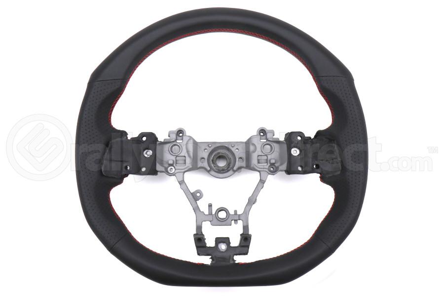 DAMD Steering Wheel Black Leather w/ Red Stitching - Subaru WRX / STI 2015 - 2020