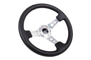 NRG Reinforced Steering Wheel 350mm 3in Deep Silver - Universal
