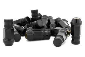 Gorilla Forged Steel Racing Lug Nuts Black Chrome Closed Ended 12x1.5 (Part Number: )