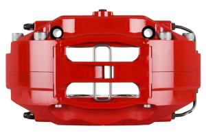 Stoptech ST-40 Big Brake Kit Front 328mm Red Zinc Drilled Rotors - Subaru Models (inc. 2002-2007 WRX)