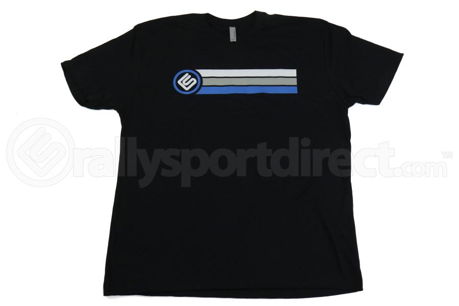 RallySport Direct Stripes Black Premium T-Shirt (Part Number:4030)