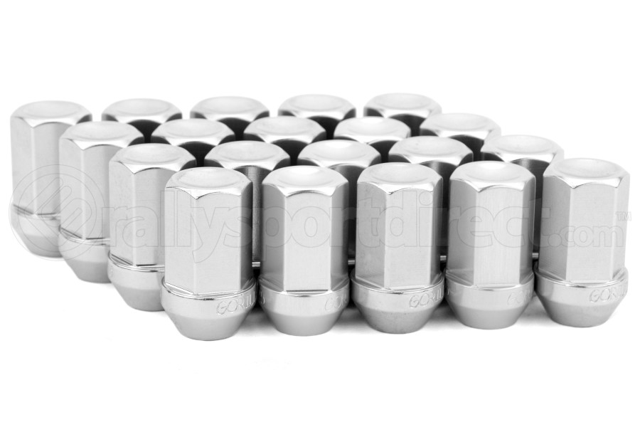 Gorilla Aluminum Closed End Silver Lug Nuts 12x1.25 (Part Number:44128AL-20)