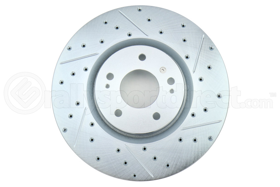 Stoptech C-Tek Sport Drilled and Slotted Rotor Single Front Left - Mitsubishi Evo 8/9 2003-2006