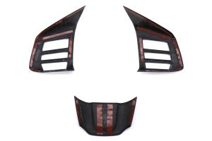 OLM LE Dry Carbon Fiber Steering Wheel Covers - Subaru WRX / STI 2015 - 2020