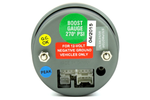 ProSport Boost Gauge Electrical w/Sender Green/White 52mm (Part Number: 216SMWGBOSWL270-PK.PSI)