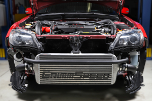 Grimmspeed Front Mount Intercooler Kit w/ Black Piping - Subaru STI 2008-2014