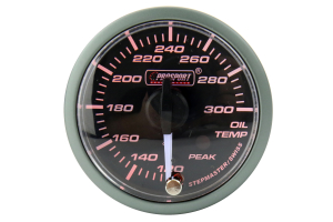 Prosport Oil Temperature Electrical Gauge w/Sender Amber/White 52mm ( Part Number:PRS 216SMWAOTWNCL270-PK.F)