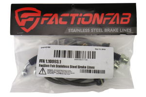 FactionFab Rear Stainless Steel Brake Lines (Part Number: )