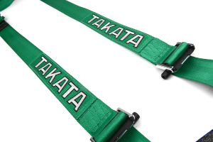 Takata Drift II 4-Point Harness Green Bolt-On (Part Number: )