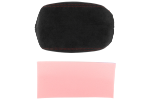 JPM Coachworks Extended Armrest Black Alcantara w/ Red Stitching  ( Part Number: 1207A40-R)