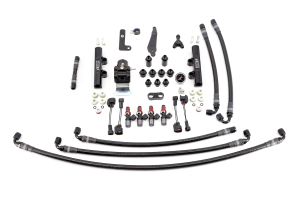 IAG PTFE Flex Fuel System Kit w/ Injectors, Lines, FPR, Fuel Rails - Subaru WRX 2008 - 2014
