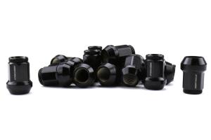 KICS Kyokugen Lug Nuts w/ Aluminum Cap 12x1.25 Black / Black - Universal