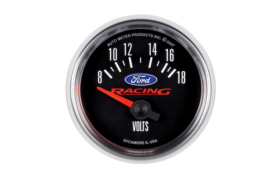 Autometer Ford Racing Voltmeter Gauge 52mm - Universal