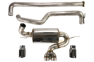 AWE Touring Edition Cat Back Exhaust Non-Resonated Chrome Silver Tips - Ford Focus ST 2013+