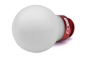 COBB Tuning Delrin Shift Knob White/Red 5MT - Subaru 5MT Models (inc. 2002-2014 WRX)