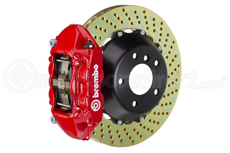 Brembo Gran Turismo Drilled Brake Kit 4 Piston 2-Piece Red Rear - Scion FR-S 2013-2016 / Subaru BRZ 2013+ / Toyota 86 2017+