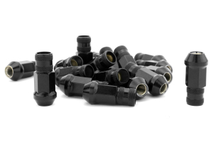Gorilla Forged Steel Racing Lug Nuts Black Chrome Open Ended 12x1.50 (Part Number: )
