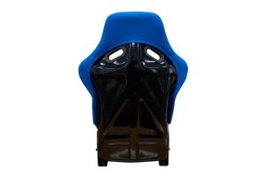 NRG Innovations FRP Large Cloth Bucket Seat Blue - Universal