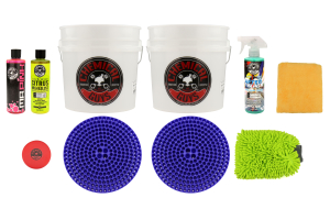 Chemical Guys Best Two Bucket Wash and Dry Kit (11pc) Blue - Universal
