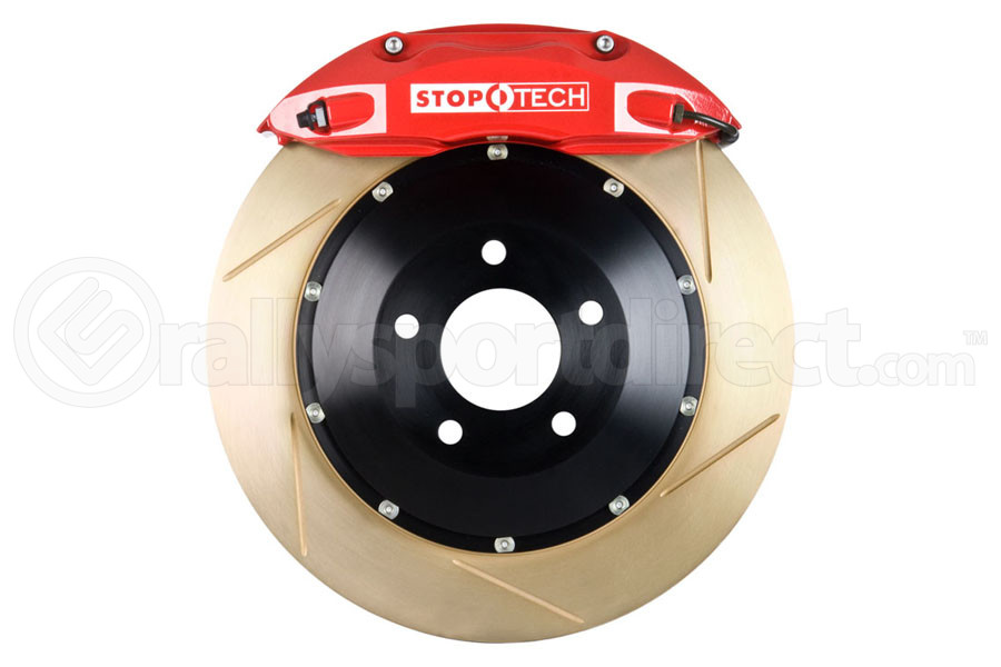Stoptech ST-40 Big Brake Kit Front 328mm Red Zinc Slotted Rotors (Part Number:83.841.4300.73)