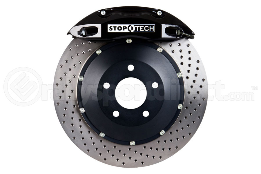 Stoptech ST-40 Big Brake Kit Front 328mm Black Drilled Rotors (Part Number:83.841.4300.52)