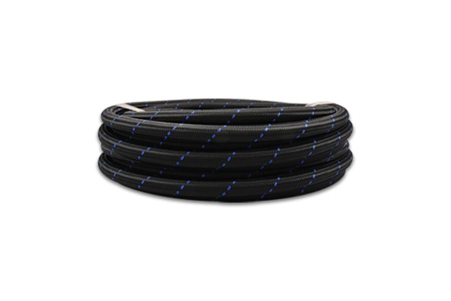 Vibrant Performance Nylon Braided Flex Hose -6AN Black / Blue - Universal