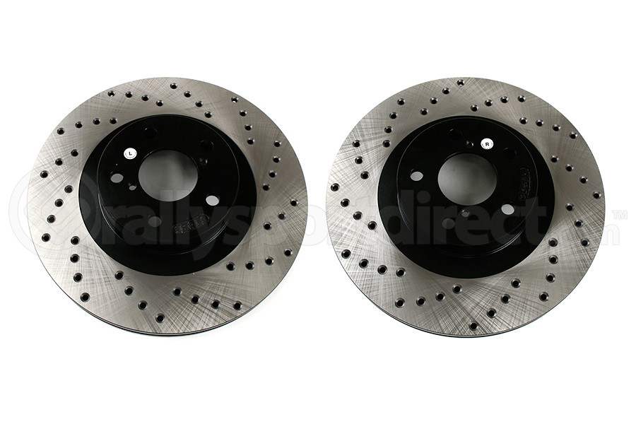 Stoptech Drilled Rotor Pair Front (Part Number:128.47018G)