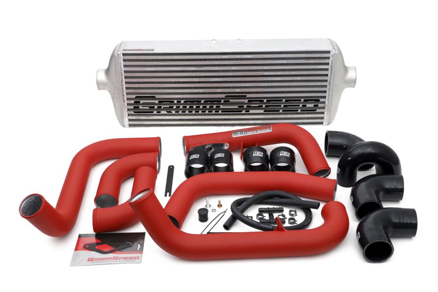 Grimmspeed Front Mount Intercooler Kit w/ Red Piping - Subaru STI 2008-2014