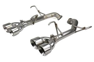 FactionFab Axle Back Exhaust Polished Tips - Subaru WRX / STI Sedan 2011-2014