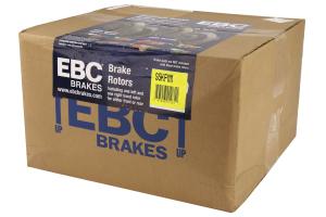 EBC Brakes S5 Front Brake Kit Yellowstuff Pads and 3GD Rotors - Subaru STI 2005+