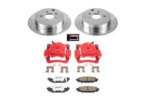 Power Stop Z26 Street Warrior Brake Kit w/ Calipers Rear - Subaru Models (inc. 2012-2020 Impreza / 2013-2020 Crosstrek / 2014-2018 Forester)