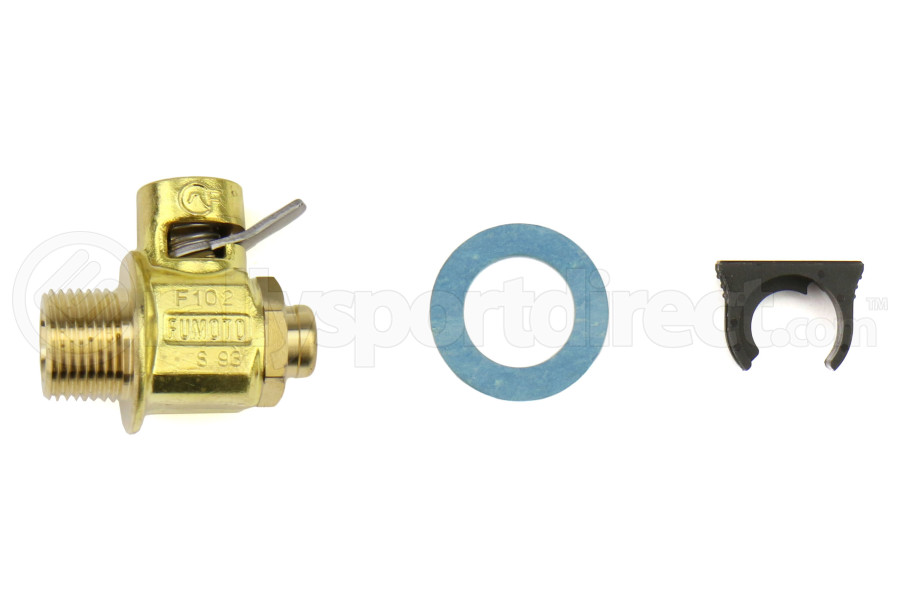 Fumoto PF-3/8 Valve w/ Short Nipple and Lever Clip - Universal