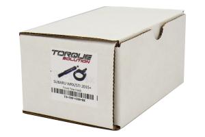 Torque Solution Front Tow Hook Black - Subaru WRX/STI 2015+