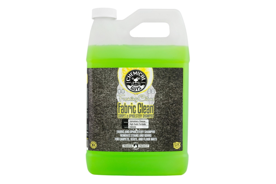 Chemical Guys Foaming Citrus Fabric Clean Carpet And Upholstery Shampoo And Odor Eliminator (Multiple Size Options) - Universal