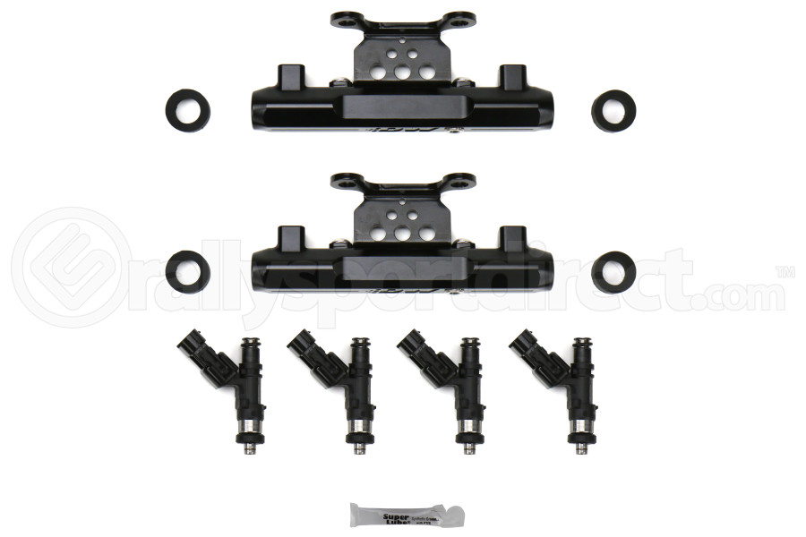 DeatschWerks Fuel Injectors 1500cc w/Top Feed Conversion Fuel Rails - Subaru STI 2004-2006 / Legacy GT 2005-2006