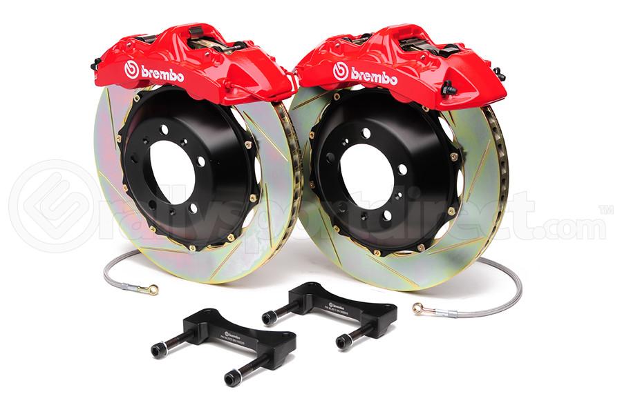 Brembo Gran Turismo 6 Piston Front Brake Kit Red Slotted Rotors - Subaru WRX 2008-2014 / Legacy 2.5i 2010-2011